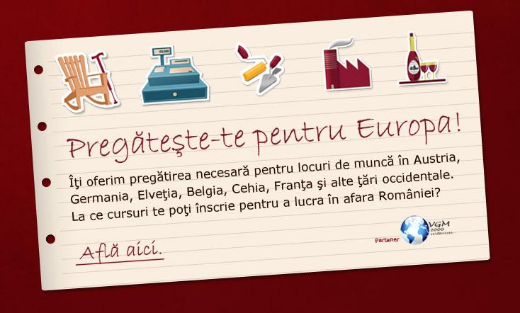 Pregateste-te pentru europa!